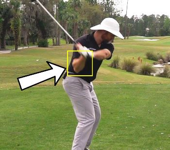 Right Elbow Position in the Golf Downswing